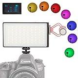 Sutefoto 0-360 Full Pocket Color RGB On-Camera Video Light Camera Lighting for DLSR Camera Camcorder Built-in 3300 mAh Rechargeable Battery 2500K-8500K Adjustable, 0-100% Stepless Dimming CRI/TLCI 95+