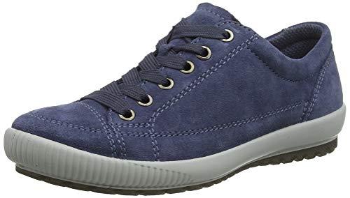 Legero TANARO-Sneaker, Damen Niedrig- Anderes Leder, Blau (Zaffiro (Blau) 84), 40 EU (6.5 UK)
