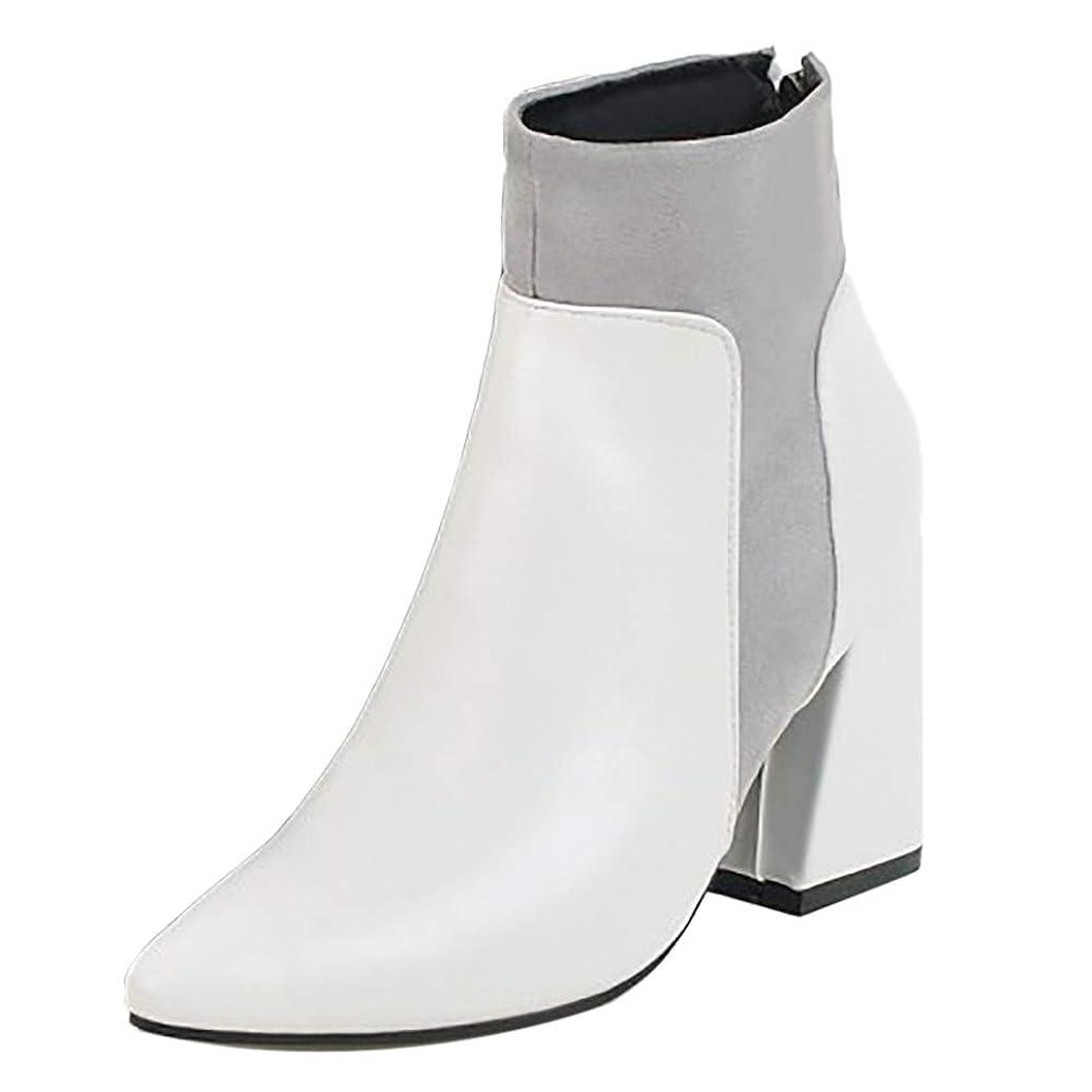 強化取り戻す前に[FANIMILA] レディース ファッション ショートブーツ 太ヒール バックジッパー ブーティ