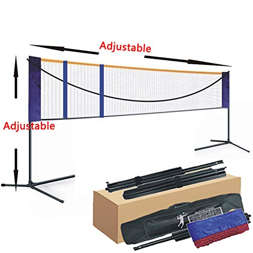 APOE Badminton Set Netz Tragbares Badmintonnetz Tennisnetz Volleyballnetz Outdoor für Garten Strand Picknick mit Faltbar Netz Rack 5.18m/6.1m