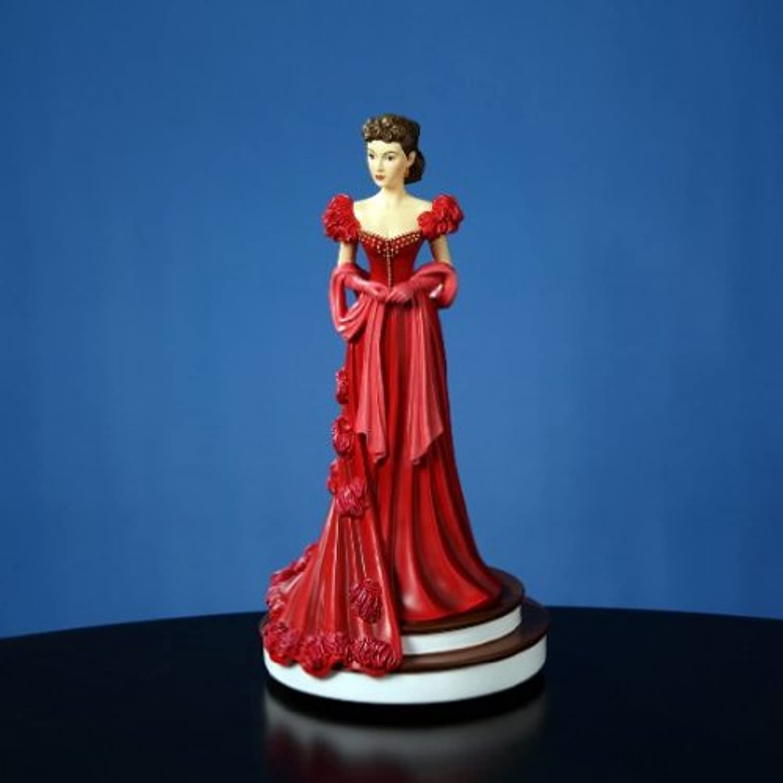 "The San Francisco Music Box Company Scarlett's Red Dress 9"" Figurine"