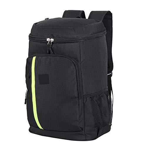 Enjoygoeu Rucksack Kühltasche 32L Groß Kühlrucksack Wasserdicht Ultraleicht für Camping, BBQ, Wandern, Picknick (Schwarz)