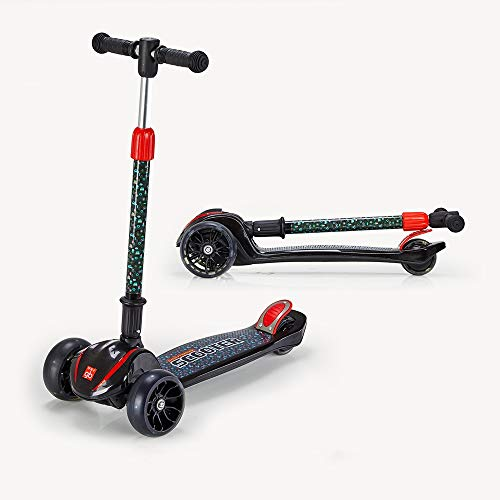 Ycco Stunt-Scooter Street Pro Kick- / Push-Spin-Tricks 360 Edition Feste Lenkradwinkel for Kinder, Kinder und Erwachsene Indoor Outdoor, vierrädriges Blitzfa