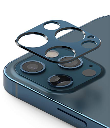 Ringke Camera Styling Aluminiumrahmen Schutzring für Kameraobjektive Schutz Kompatibel mit iPhone 12 Pro Max - Blue