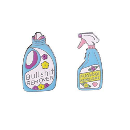 SimpleLife Waschmittel Emaille Pins/Nette Brosche Kreative Flaschenform Broschen Neuheit Abzeichen Zubehör Dekor Schmuck (Packung mit 2)