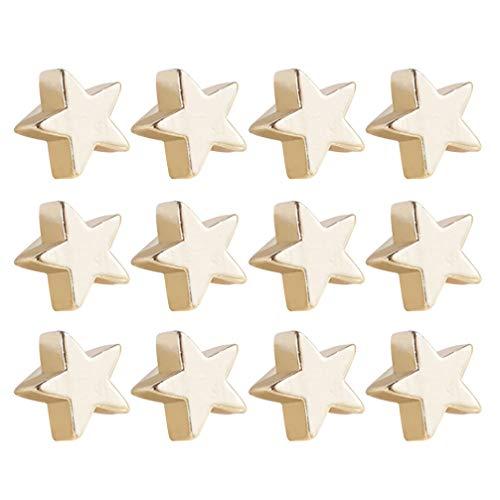 SUPVOX 40 Piezas Perlas de Metal de Estrella DIY Accesorios de Joyería para Fabricación de Collar Pulsera