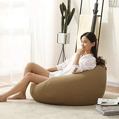 GYZ Lazy Couch Dormitorio Creativo Sofá Simple Bolsa de SOYA Sillón Individual Minimalista Moderno, 90x110cm (Color : D, Size : 90x110cm)