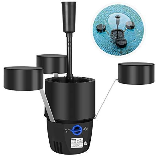 Yorbay CSP-250 2 in 1 Teich Skimmer mit 10m langem Stromkabel, Teichfilter Springbrunnenpumpe Schwimm-Skimmer Oberflächenabsauger für Teiche, Brunnen 2500l/h 45W (Mehrweg)
