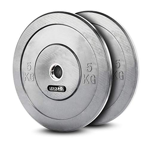 Lex Quinta Vollgummi Bumper Plate GRAU - 2x5kg Hantelscheiben für 50mm -