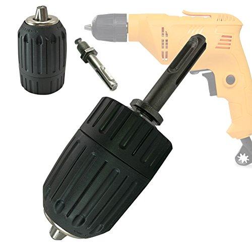 JTENG Mandril sin llave Mandril de broca de 2-13mm de liberación rápida con adaptador 1/2 '' SDS Plus
