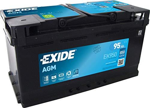 EXIDE 10850470 EK950 AGM PKW Starter-Batterie, Schwarz