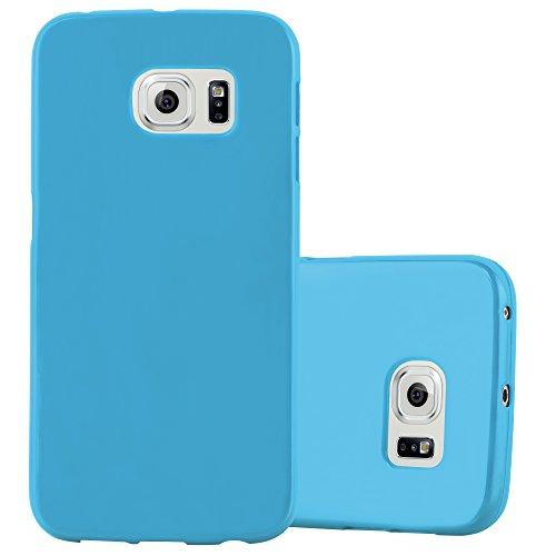 Cadorabo Funda para Samsung Galaxy S6 Edge en Jelly Azul Claro - Cubierta Proteccíon de Silicona TPU Delgada e Flexible con Antichoque - Gel Case Cover Carcasa Ligera