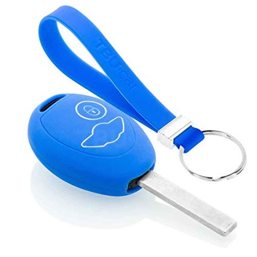 TBU car Funda Carcasa Llave Compatible con Mini - Funda de Silicona - Cover de Llave Coche - Azul
