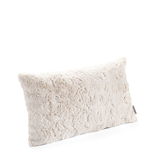 Pad - Kissenhülle, Kissenbezug, Kissen - Bardot - Kunstpelz, Kunstfell - Farbe: Natural, Weiß - Polyester - 30x50 cm - ohen Füllung