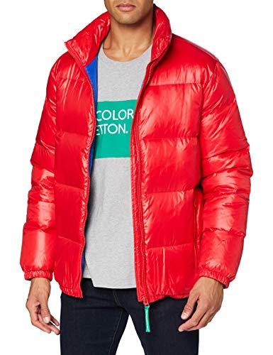 United Colors of Benetton Herren Giubbotto Daunenjacke, Red 015, S