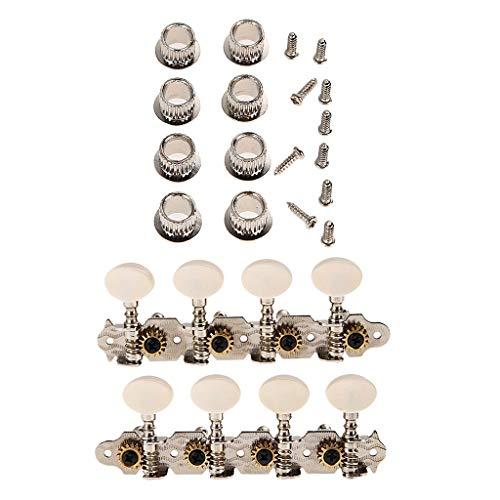 4L 4R Silver Mandolin Tuner Mechaniken Mit Schrauben Für 8 Saitige Mandoline