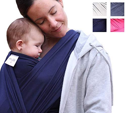 myla Babytragetuch - Elastisches Tragetuch für das erste Lebensjahr