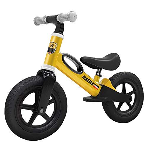 snmi Bicicleta De Equilibrio para Niños, Edades De 2, 3, 4, 5, 6 Años Bicicleta para Caminar, Ligera Sin Pedal, Altura del Asiento del Manillar Ajustable