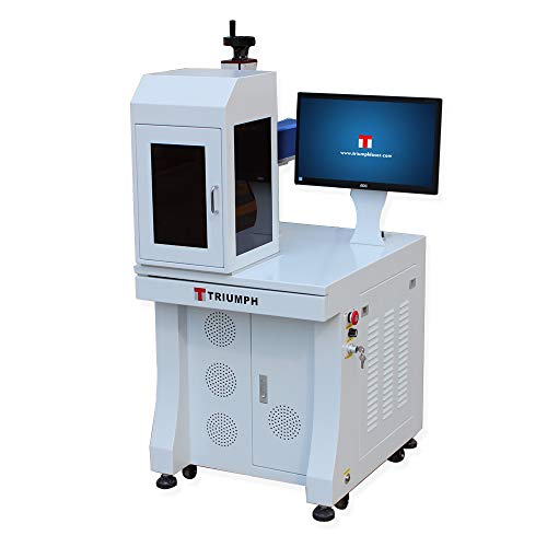 Triumph 50w Fiber Laser Marking deep Engraving Machine Metal polymers Parts Marker Engraver Rotary jewllery Silver Cutting Firearms 110x110 and 200x200mm Lens