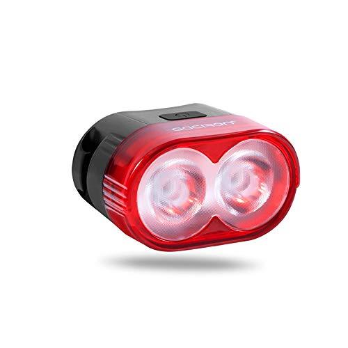 CWBB Luces Traseras Bicicleta Inteligente Luz de Freno Trasera USB Recargable Advertencia de Seguridad 60 lúmenes lámpara Trasera Accesorios de Ciclismo