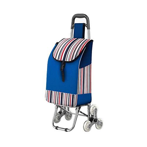 Carro de compras Compras, pequeño Plegable de Acero Inoxidable portátil de Mano,...