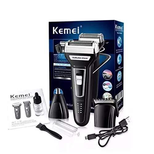 Kemei Shaver Máquina De Corte 3 Em 1