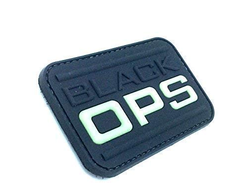 ACM Empiècement PVC Patch Noir Ops Airsoft
