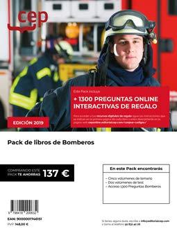 PACK AHORRO DE LIBROS OPOSICIONES BOMBEROS