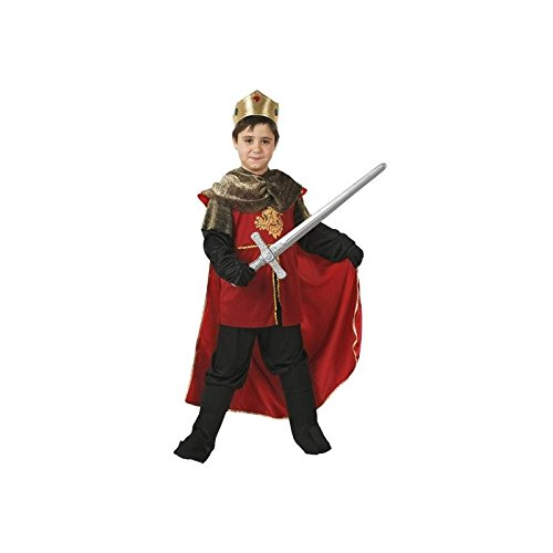 Atosa-94255 Costume-Déguisement Roi Médiévale 10-12 Ans, 94255, Rouge