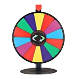 WinSpin 18' Tabletop Editable Color Prize Wheel 14 Slot Spinning Game Steel Base w/Dry Erase Tradeshow Carnival