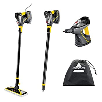 BISSELL Power Steamer Heavy Duty 3-in-1 Steam Mop and Handheld Steamer for Outdoor Use 2685A Black