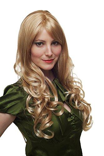 WIG ME UP ® - 285-27T88 Perücke heller blond-mix Locken lang wig 60cm