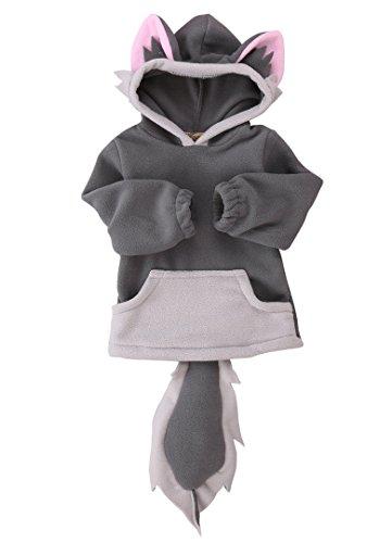 Baby Kids Boys Girls Cute Fox Cloak Hooded Outfits Hoodie Coat Outwear Jacket(1-2years,Grey)