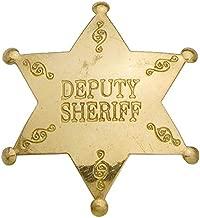 Deputy Sheriff Western Replica Badge - Brass