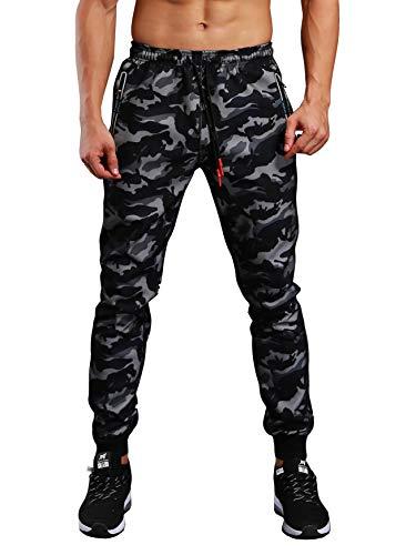 (ビベター)Bebetter ジョガーパンツ メンズ スキニー ロングパンツ ファスナー付き カジュアル 迷彩 スポーツパンツ トレーニングウェア M