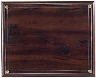 Certificate Plaque Board with Slide in Plexi Glass, Walnut Finished