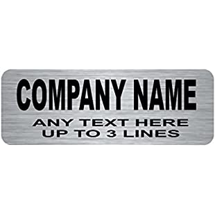 Silver name badge engraved 70mm x 25mm no border free delivery lnb5:Superclub