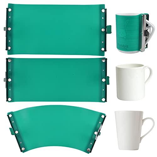 3 Stück Silikon-Tassen-Klemmfolie, 3D-Sublimations-Silikon-Tassenwickel, hitzebeständige Becherklemmbefestigung, Tassen-Transfer-Sublimation für Tassen Druck (313 ml, 340 ml, 425 ml)