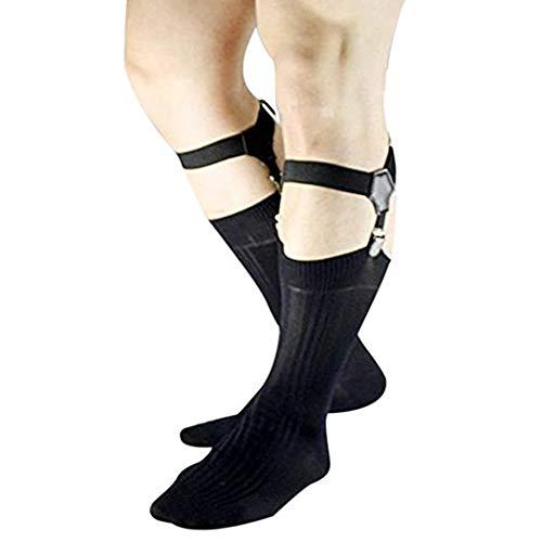 Mens Sock Garters Belt Adjustable 2-pack Sturdy Clip Suspenders