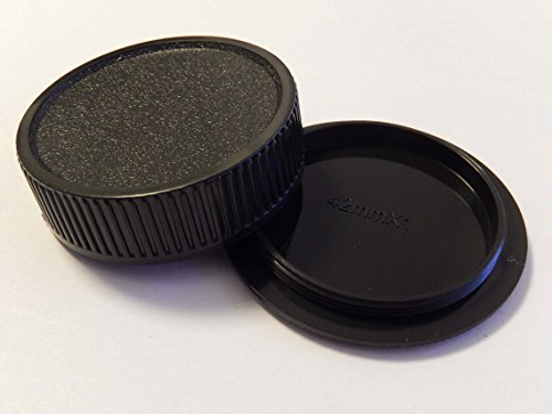 vhbw Objektiv Deckel Set für Kamera Leica mit M42-System wie Asahi Pentax Chinon Contax Edixa Exa Fujica Mamiya Praktica Pentacon Porst Ricoh Olympus
