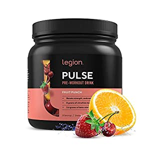 Legion Pulse, Best Natural Pre Workout Supplement for Women and Men ? Powerful Nitric Oxide Pre Workout, Effective Pre Workout for Weight Loss. (Fruit Punch)