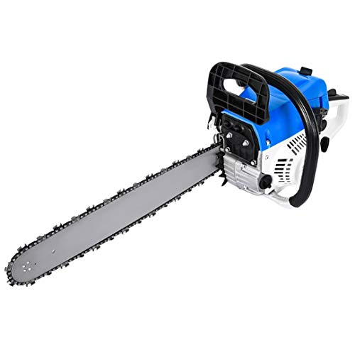 Gas Chainsaw, 52CC 20' Woodcutting Chain Saw, 2 Stroke Handed Petrol Chainsaws,Low Noise, High Speed, Gas Powered Cordless Handheld Gasoline Power Chain Saws for Cutting Trees, Wood, Garden and Farm