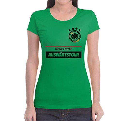 JGA Vrouwen Shirt Combi Mijn laatste uitwedstrijd met gewenste datum vrouwen T-Shirt Slim Fit