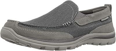 Skechers Men's Superior Milford Slip-On Loafer, Charcoal/Gray, 9.5 D US