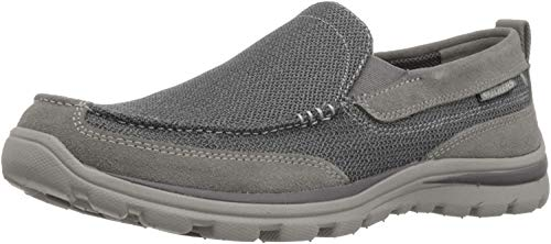 Skechers USA Men's Superior Milford Slip-On Loafer, Charcoal/Gray, 11.5 D US