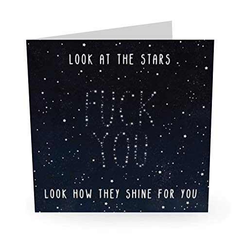 """Central 23 – Lustige Geburtstagskarte – """"Look At Stars"""" – freche Geburtstagskarte für Männer und Frauen – mit lustigen Aufklebern"""