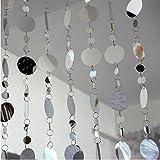 LSBAO-HE 10 m PVC Paillettes Tenda Glitter Decorazione Decorazione di Nozze, Tende di Sfon...