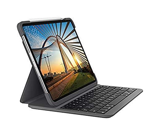 Logitech Slim Folio Pro, Custodia Bluetooth con Tastiera Retroilluminata per iPad Pro da 11 Pollici 1a/2a Gen A1980/A2013/A1934/A1979/A2228/A2068/A2230/A2231, Layout Italiano Qwerty, Nero (Grafite)