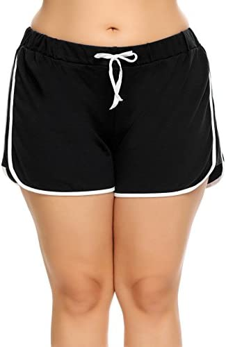 IN VOLAND Women Plus Size Shorts Dolphin Shorts Plus Size Running Short for Workout Gym Sports product image