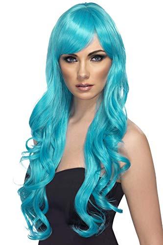 Perücke Desire türkis türkise lockige Langhaarperücke für Damen sexy heiße Damenperücke Langhaar Lang Haar
